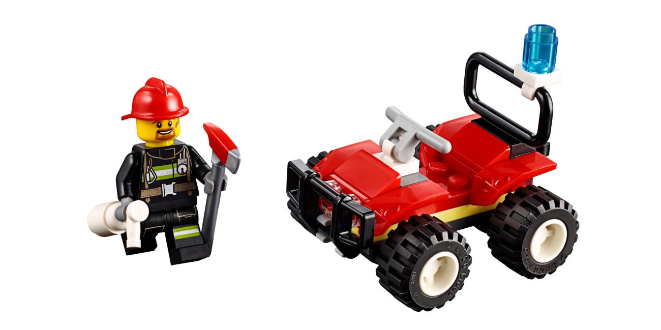 Lego City - Fire ATV - 30361